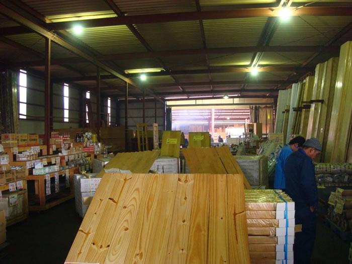 建材倉庫の様子